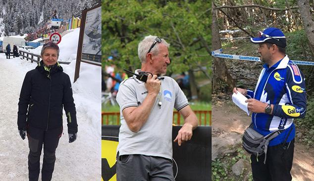 Sonia, Rudi e Mirko - Direttori di organizzazione della Federazione Ciclistica