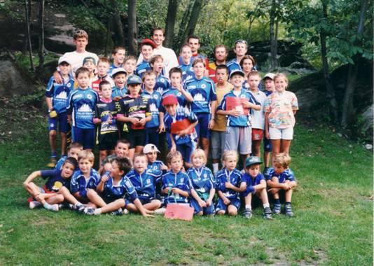 Un nutrito gruppo di giovanissimi (atleti dai 7 ai 12 anni) partecipa al Grand Prix MTB Valle d'Aosta