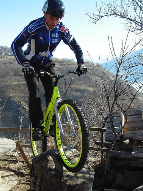 elfino Alessandro, più volte campione italiano Trial